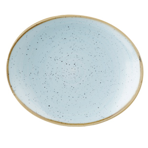 Churchill Stonecast Duck Egg Oval Coupe Plate 19.2cm