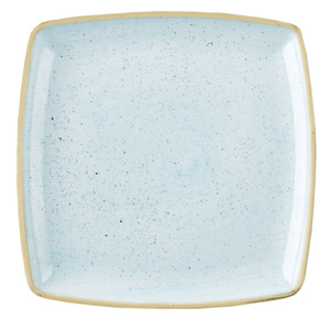 Churchill Stonecast Duck Egg Deep Square Plate 26cm (Case of 6)