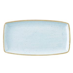 Churchill Stonecast Duck Egg Oblong Plate 35cm (Case of 6)