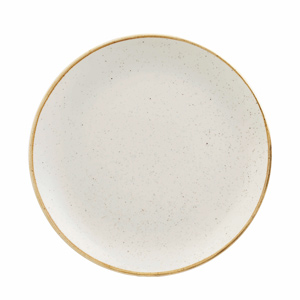 Churchill Stonecast Barley White Coupe Plate 8.25 Inches / 21.7cm