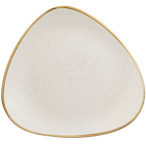 Churchill Stonecast Barley White Triangular Plate 10.5 Inches / 26.5cm