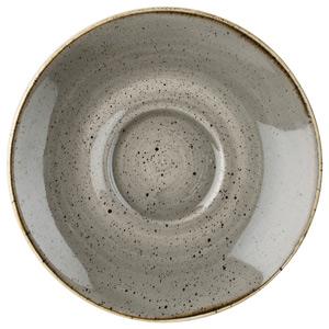 Churchill Stonecast Peppercorn Grey Cappuccino Saucer 6.25 Inch / 15.6cm