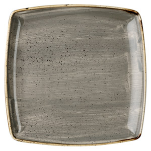 Churchill Stonecast Peppercorn Grey Deep Square Plate 10.25 Inch / 26cm