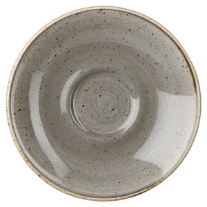 Churchill Stonecast Peppercorn Grey Espresso Saucer 4.5 Inch / 11.8cm