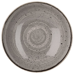 Churchill Stonecast Peppercorn Grey Coupe Bowl 9.75 Inch / 24.8cm