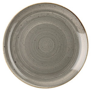 Churchill Stonecast Peppercorn Grey Coupe Plate 8.67 Inch / 21.7cm
