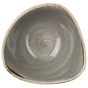 Churchill Stonecast Peppercorn Grey Triangular Bowl 7.25 Inch / 18.5cm