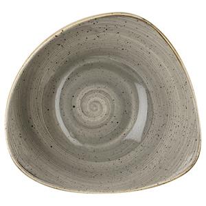 Churchill Stonecast Peppercorn Grey Triangular Bowl 9.25 Inch / 23.5cm