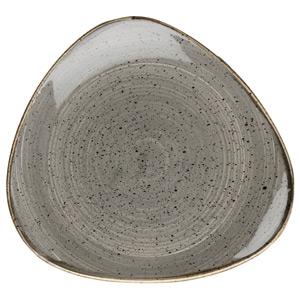 Churchill Stonecast Peppercorn Grey Triangular Plate 10.4 Inch / 26.5cm