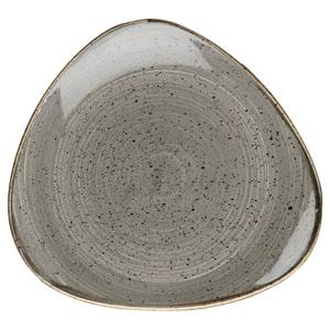 Churchill Stonecast Peppercorn Grey Triangular Plate 9 Inch / 23cm