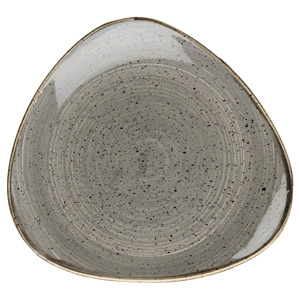 Churchill Stonecast Peppercorn Grey Triangular Plate 7.5 Inch / 19.2cm