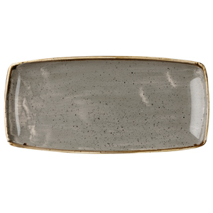Churchill Stonecast Peppercorn Grey Oblong Plate 11.75 Inch / 29.5cm