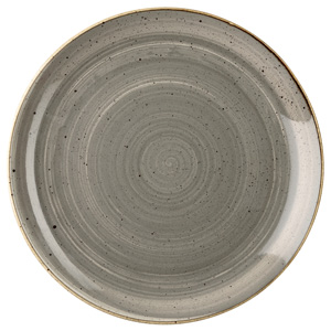 Churchill Stonecast Peppercorn Grey Coupe Plate 10.25 Inch / 26cm
