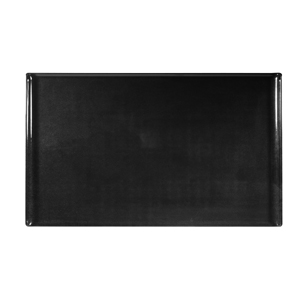 Churchill Alchemy Melamine Rectangle Buffet Tray Black 20.8inch / 53cm