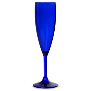 Elite Premium Polycarbonate Royal Blue Champagne Flutes 7oz / 200ml