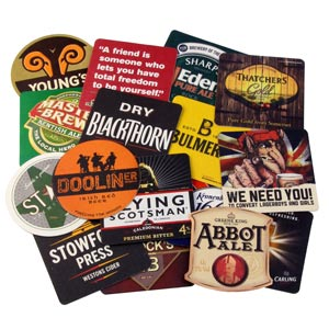 Assorted Traditional Beer Mats