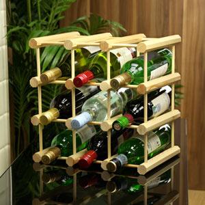 9 Bottle Pine Wine Rack