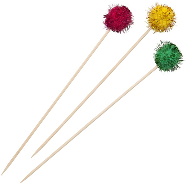 Pom Pom Cocktail Sticks