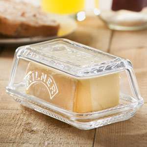 Kilner Glass Butter Dish (Single)