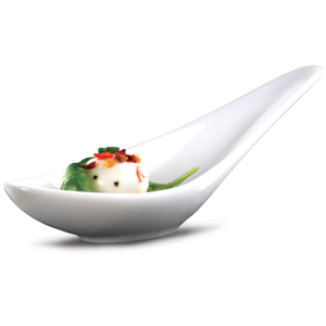 Art de Cuisine Menu Asian Long Handled Chinese Spoon 6 Inches / 15.5cm