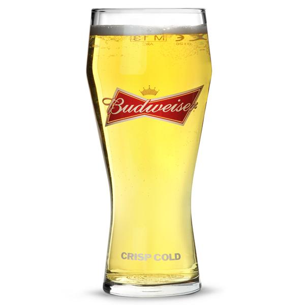 Budweiser Pint Glass Ce 20oz 568ml Drinkstuff