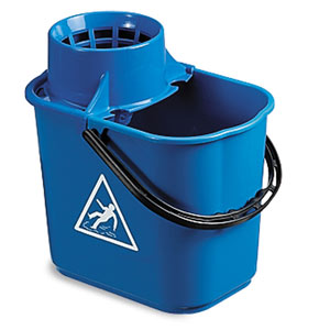 Image of Colour Coded Blue Heavy Duty Mop Bucket with Wringer