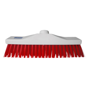 Colour Coded Red Stiff Broom Head