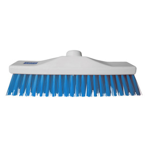 Colour Coded Blue Stiff Broom Head