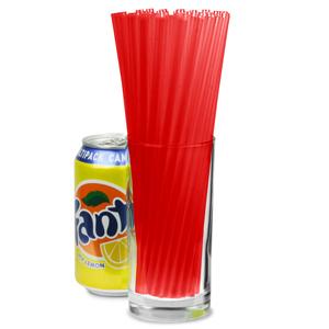 Jumbo Straws 8inch Red
