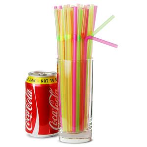 Alcopop Bendy Straws 10.5inch Neon