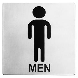 Stainless Steel Toilet Sign Men
