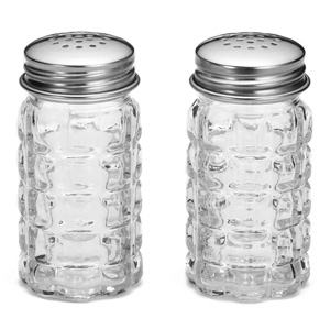 Nostalgia Glass Salt & Pepper Shakers