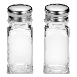 Square Salt and Pepper Shakers