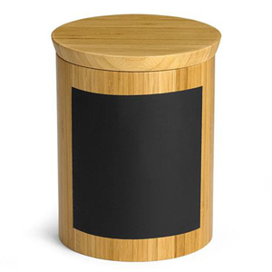 Write On Round Bamboo Riser & Storage Container 15cm