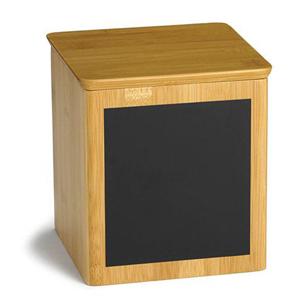 Write On Square Bamboo Riser & Storage Container 15cm x 15cm x 17.5cm