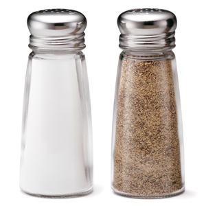 Round Salt and Pepper Shakers