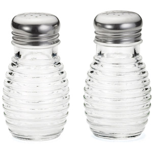 Beehive Glass Salt & Pepper Shakers