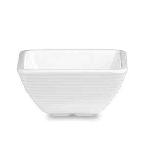 Melamine Square Ribbed Ramekin White 2oz