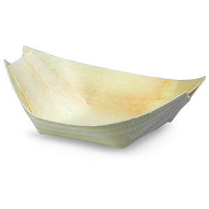 Disposable Wooden Serving Boat 11 x 6.8cm