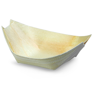 Disposable Wooden Food Serving Boat 9 x 5cm
