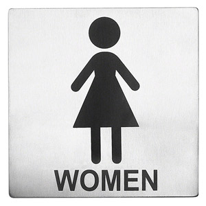 Stainless Steel Toilet Sign Women