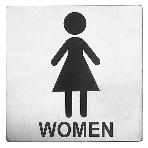 Women Toilet Sign Steel Sign With Female Character