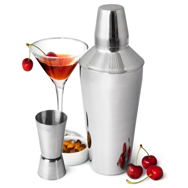 manhattan martini cocktail shaker set make your own cocktails. Black Bedroom Furniture Sets. Home Design Ideas