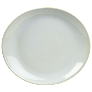 Rustic Oval Plate White 25 x 22cm