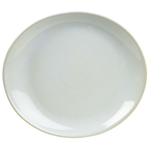 Rustic Oval Plate White 21 x 19cm