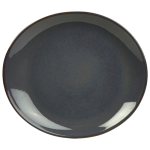 Rustic Oval Plate Blue 29.5 x 26cm