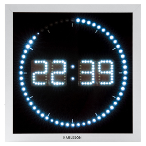 39Led39 The Time Roll Wall Clock
