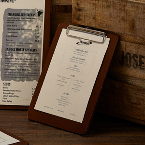 Wooden Menu Clipboard A5 (Case of 6)