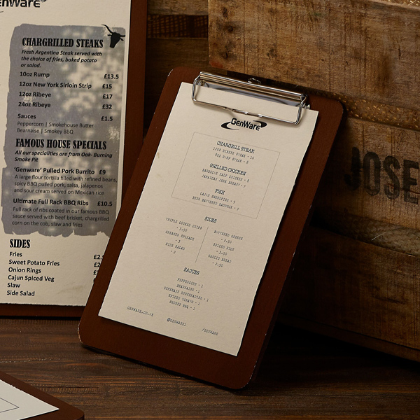 Super A5 Clipboard Menu | Specials Menu Boards - drinkstuff.com EK13