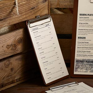 Wooden Clipboard Bill Presenter